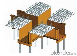 Steel bar truss floor deck
