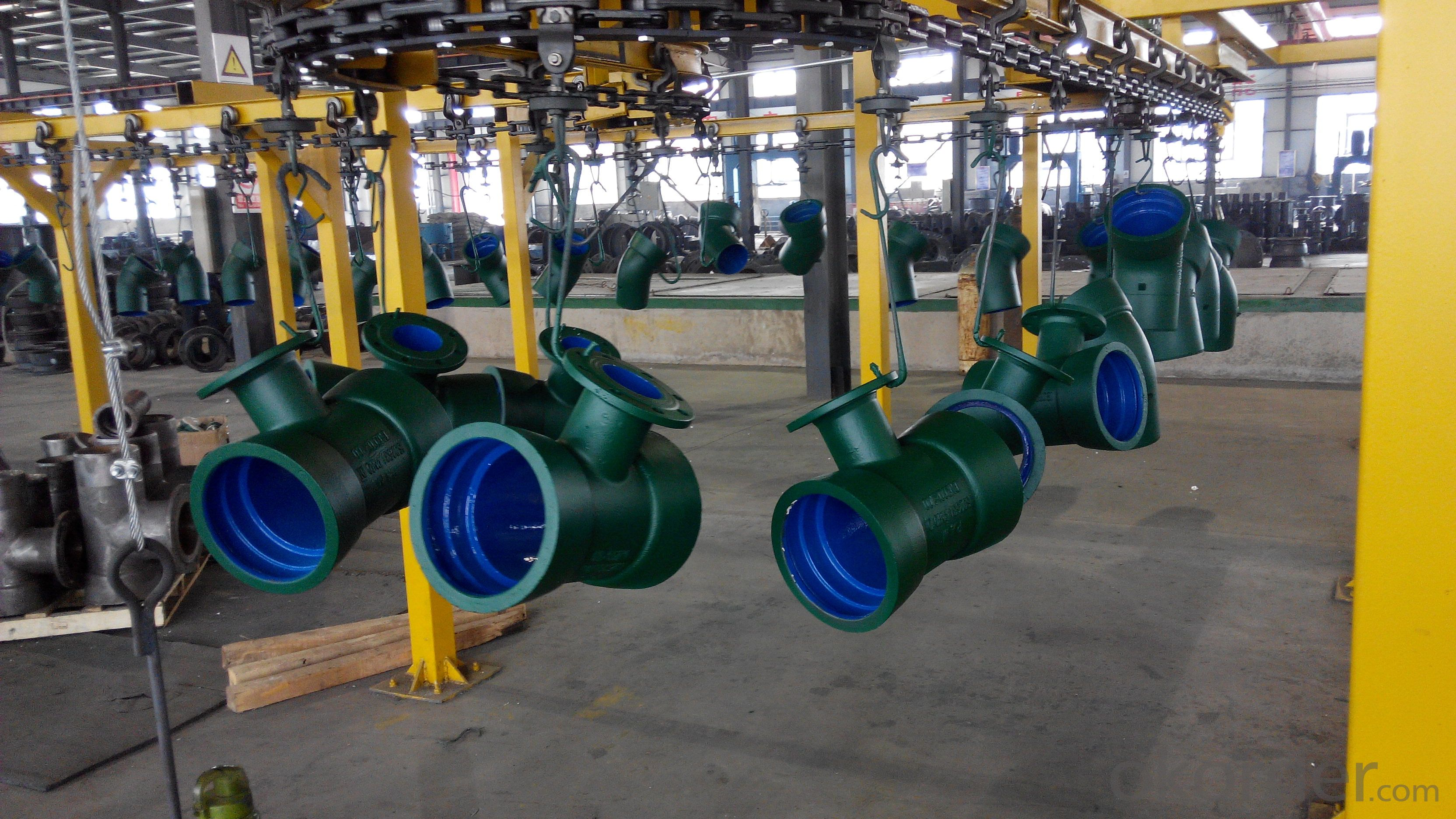 ductile iron pipe fitting--Green coating