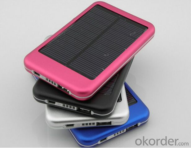 High Quality Mobile Power Bank 5000mAh Mini Solar Power Bank Charger for Mobiles/Tablets