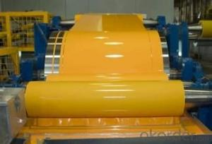 Prepained aluminum coil for sandtich panel