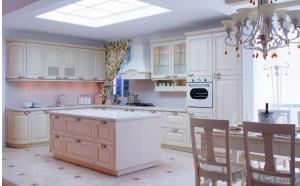 White PVC Kitchen Cabinets ZB002