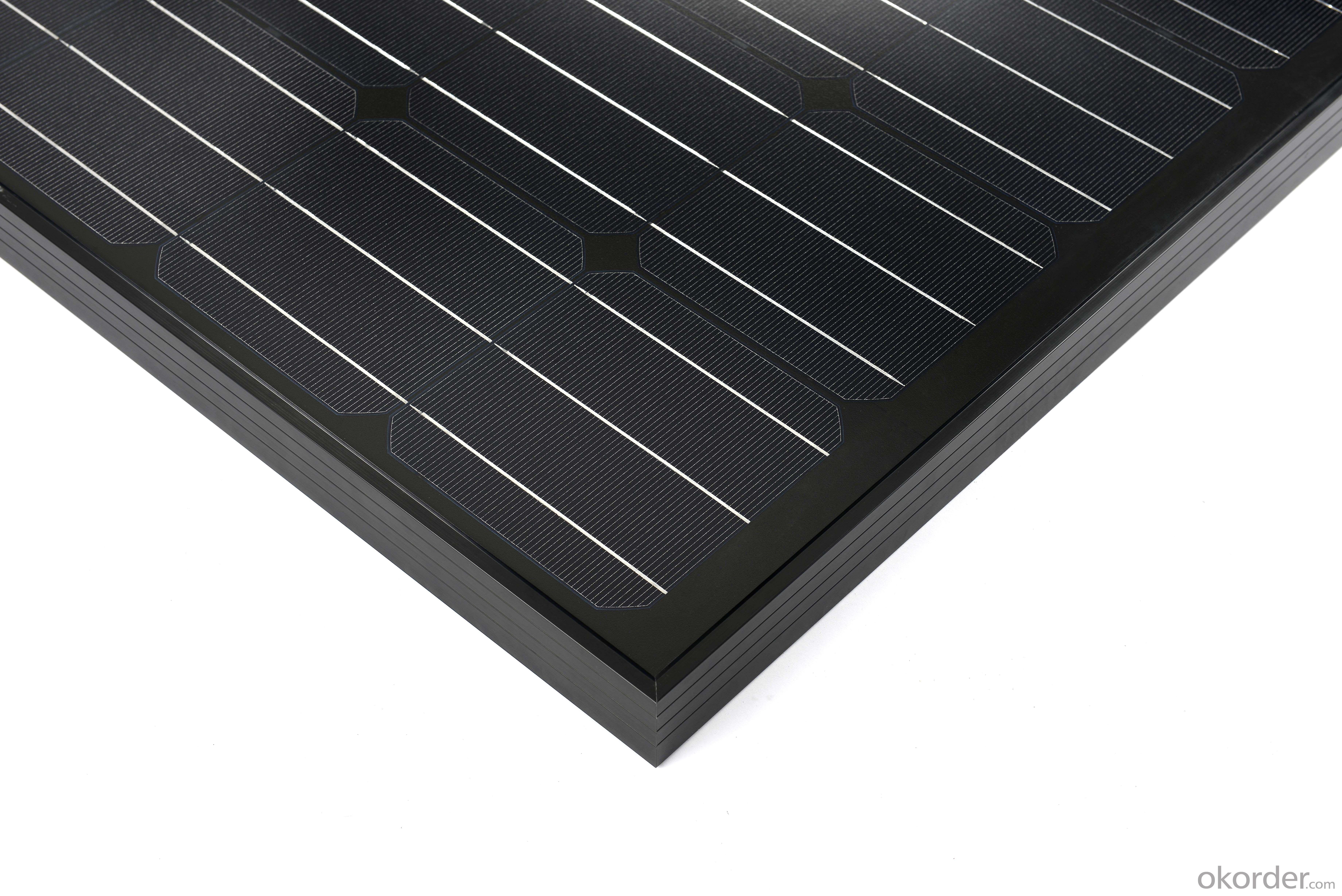 Top supplier high efficiency mono black solar panel 250w