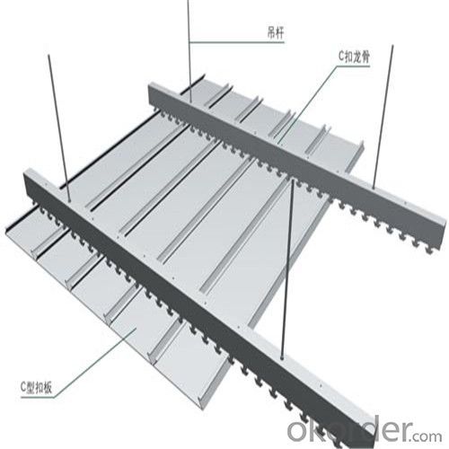S-shaped Strip Aluminum Ceiling