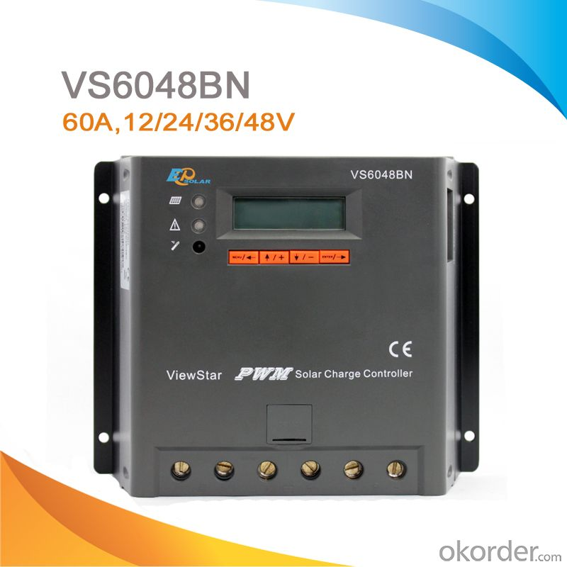 LCD Display PWM Solar Charge Controller /Regulator 60A 12/24/36/48V,VS6048BN