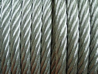 HOT SALE-6x19 fc galvanized steel wire rope