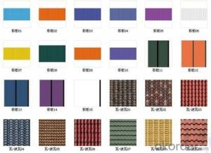 Low cost profile color steel plate