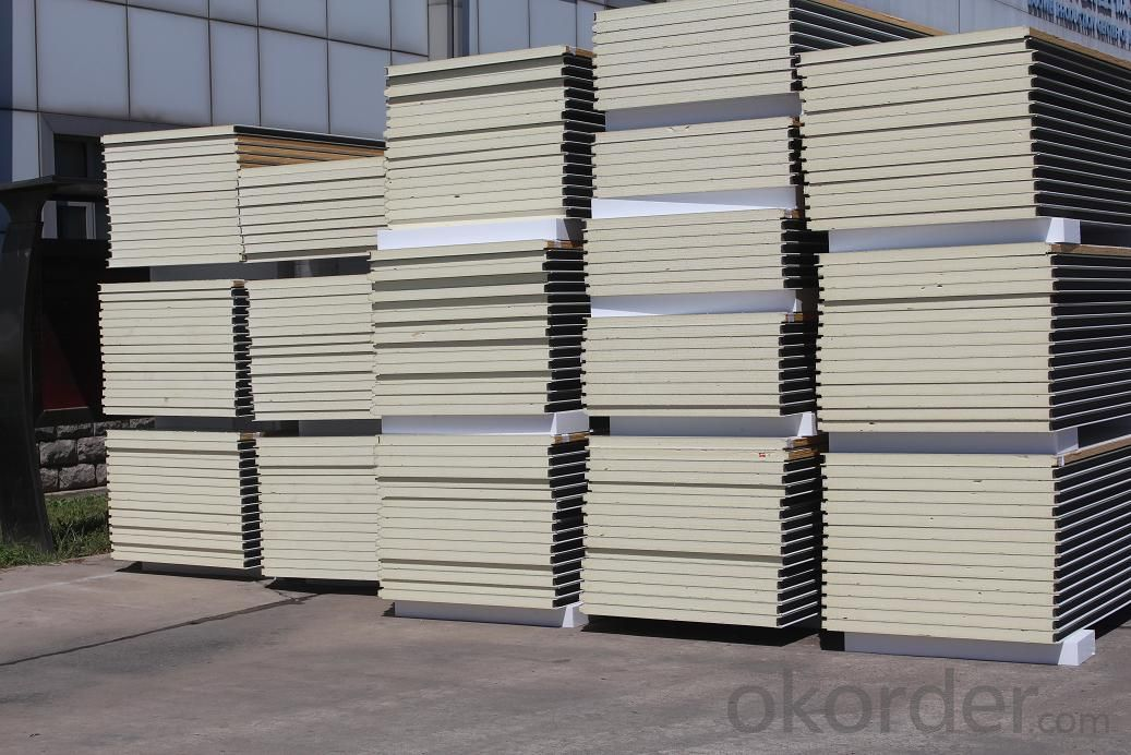 good quality exterior PU sandwich panel for prefab building