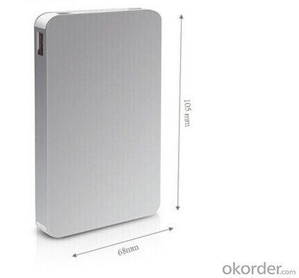 Slim 8000mah polymer power bank with Dual USB