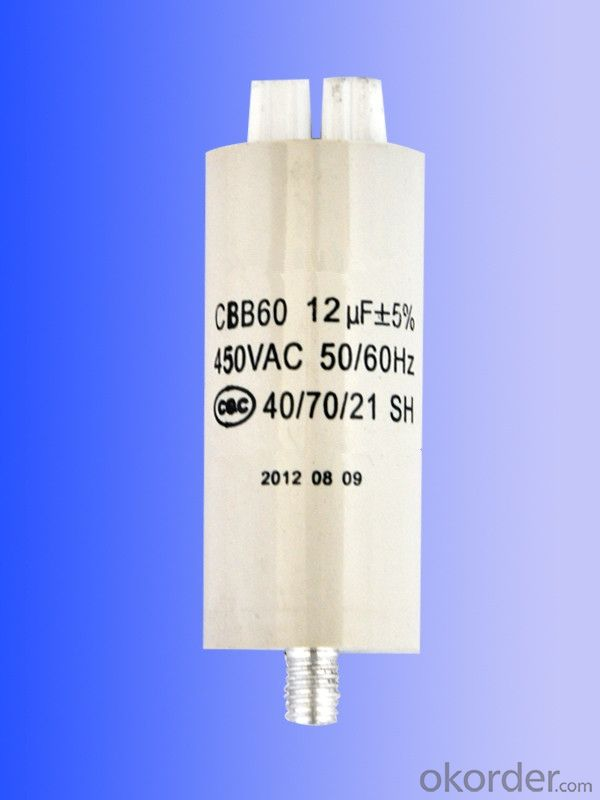 new white  plastic can motor running capacitors