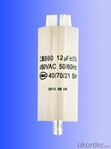 new white  plastic can motor running capacitors