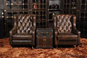 Classic chesterfield sofa 3 seater golden real leather
