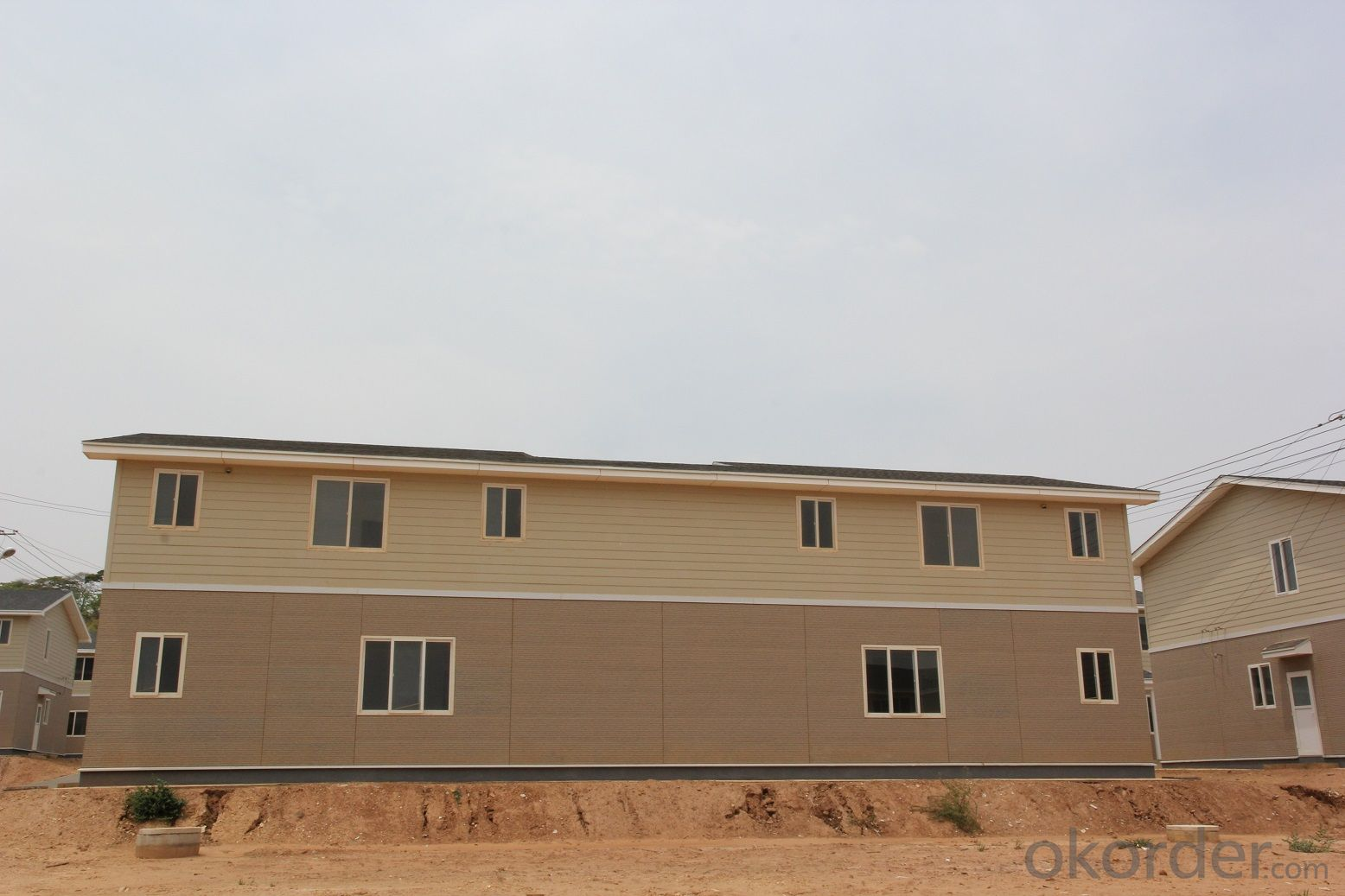Prefabricated  Light Steel House with Two Storeys
