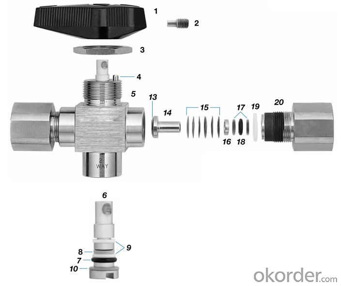 API6D stainless steel three way trunnion ball valve