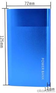 Slim 8000mah DUAL USB polymer power bank