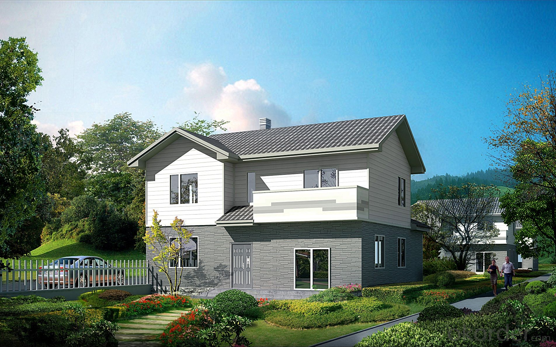 Buy Prefab Residential Villa With Light Steel Structure