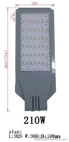 Best good quality bridgelux chip meanwell driver 210W LED street light