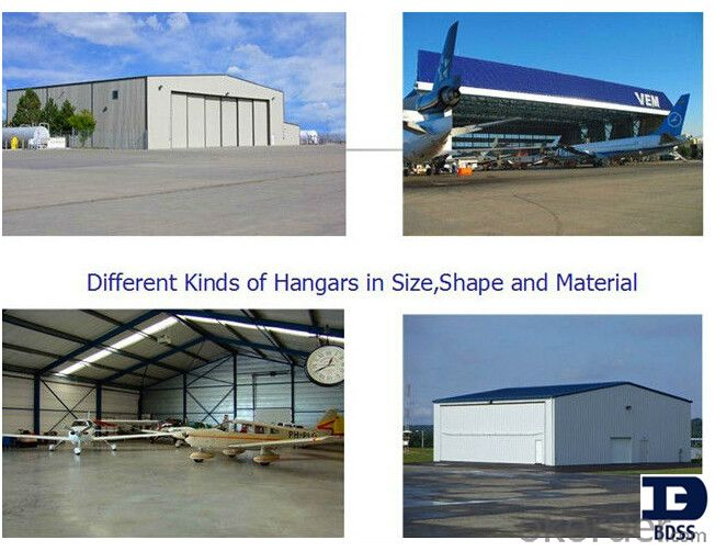 prefabricated metal airplane hangar