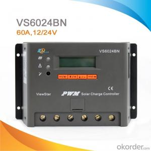 LCD/LED High Quality PWM Solar Street Light Charge Controller/Regulator with CE ROHS,60A, 12V/24V,VS6024BN