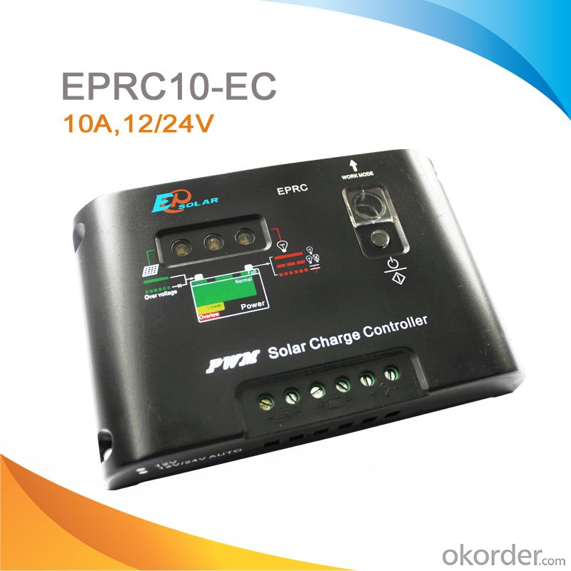 Solar Street Light Controller,10A,12/24V,EPRC10-EC