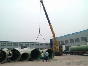 Underground GRP engineering pipe DN1500