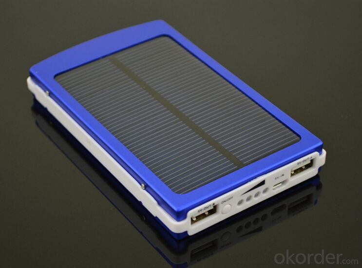 Large capacity 10000mah solar power bank for smartphone