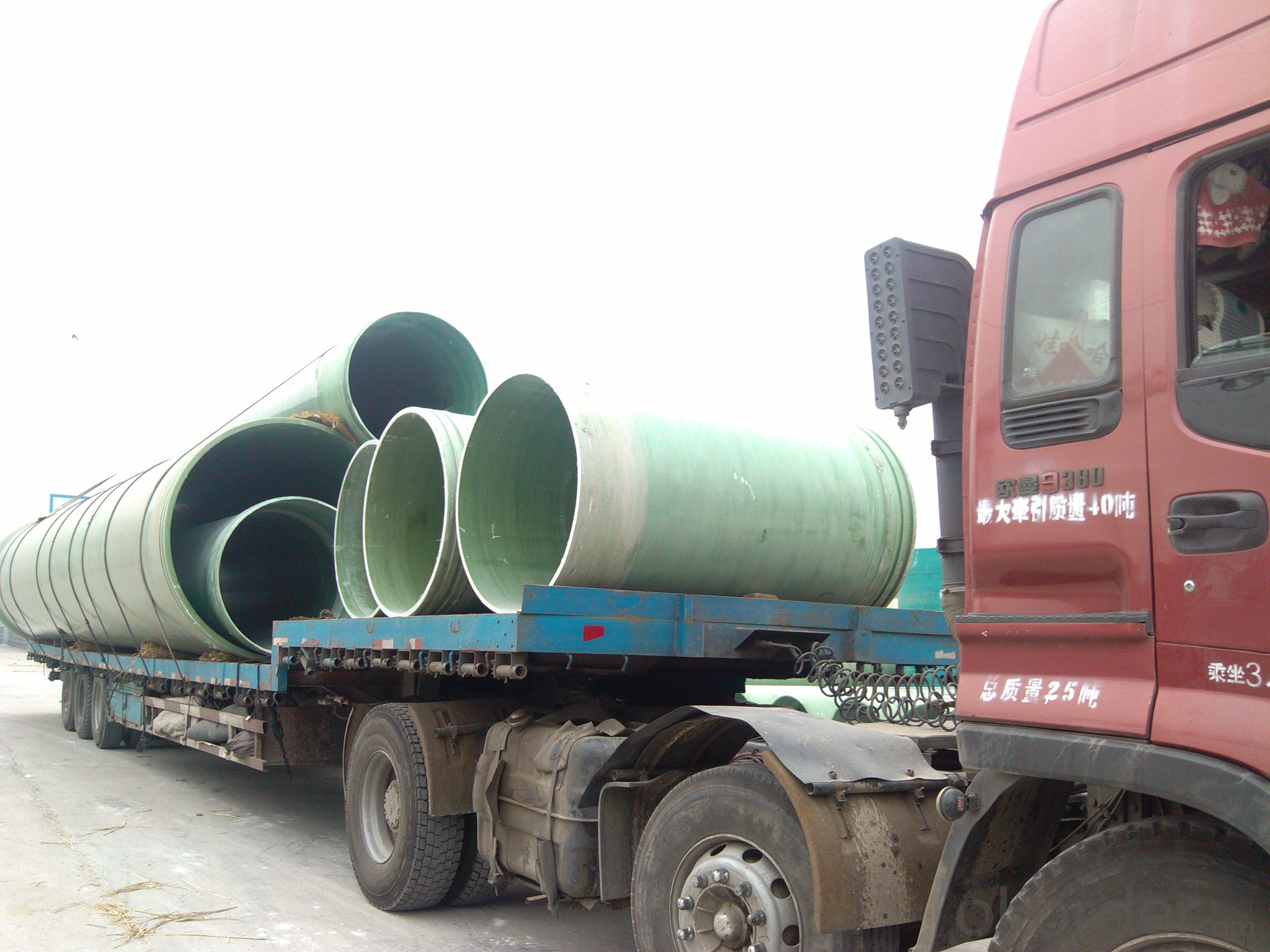 Underground GRP engineering pipe DN1100