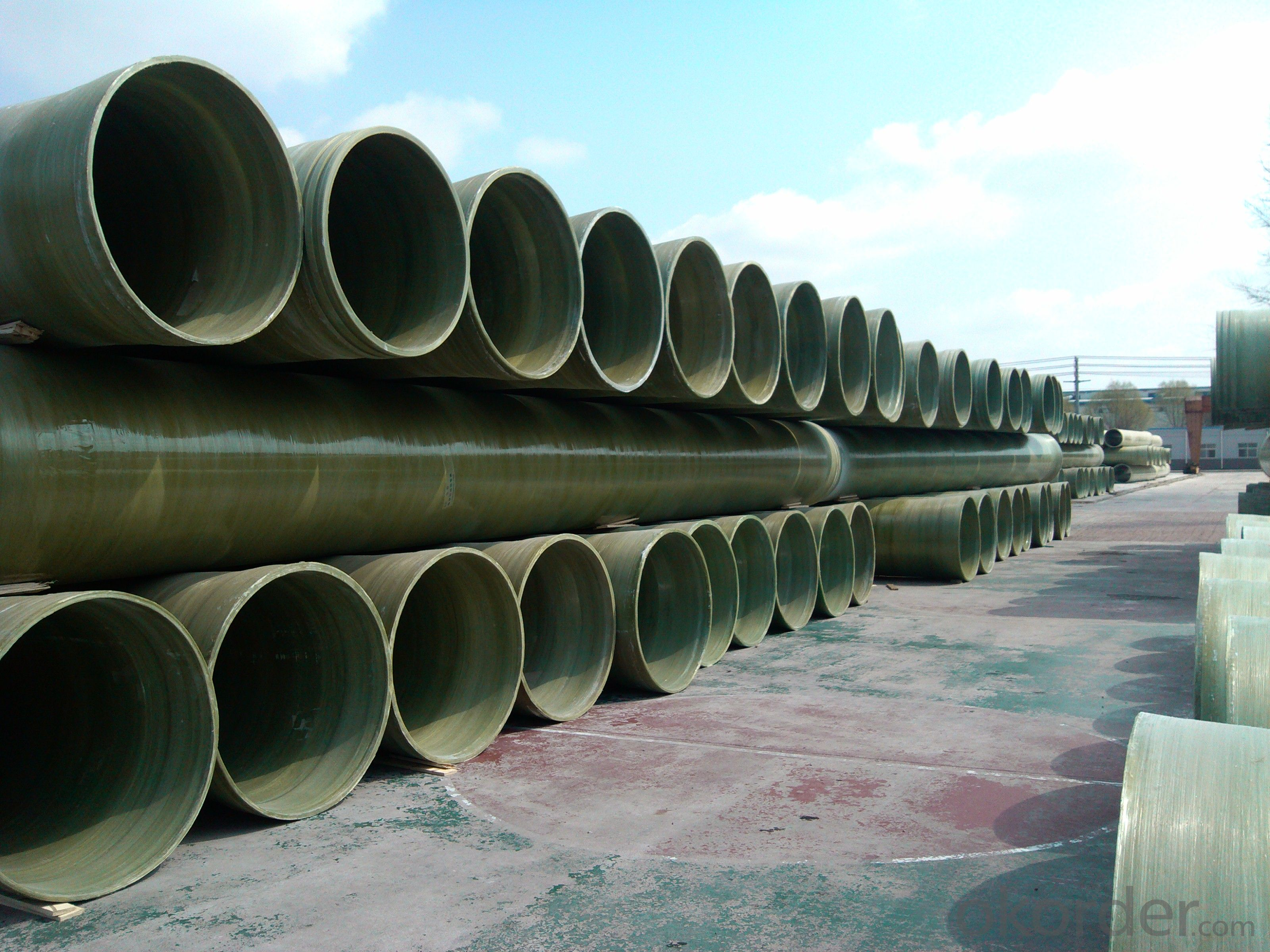 Underground GRP engineering pipe DN1800