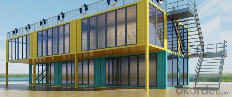 Luxury 40ft shipping container prefabricated shops, shopping malls, cafes