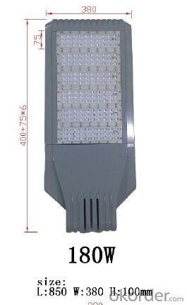 Best good quality bridgelux chip meanwell driver 180W LED street light