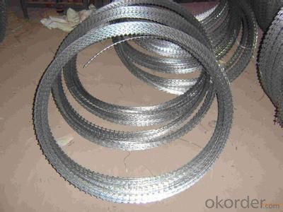 Galvanized Razor  Wire With Hot Dipped Galvanized Wire