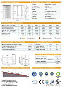 Solar Panel 260W/265W/270W/275W/280W/285W