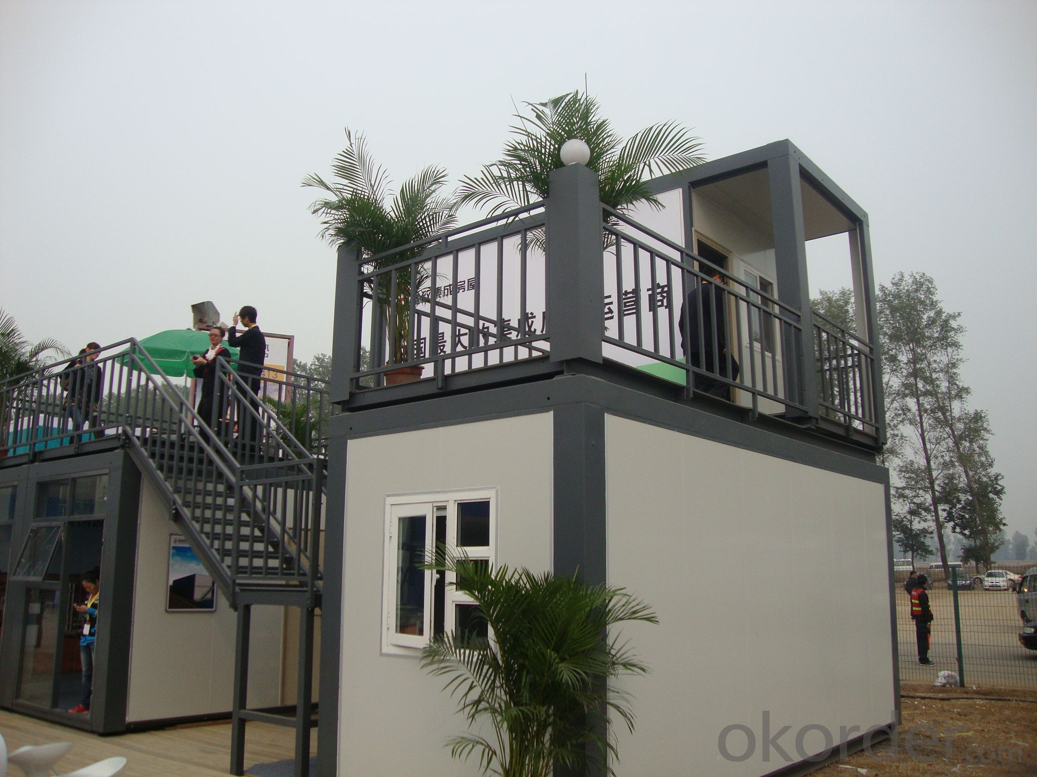 Steel sandwich panel container mobile homes