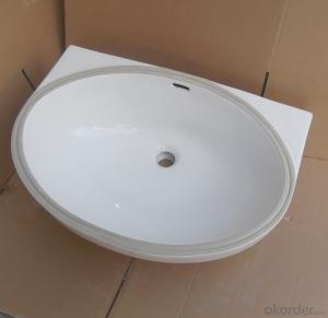 White ceramic stone under counter basin 24-inch