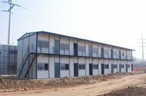 Double prefabricated house, color steel sandwich panel walls