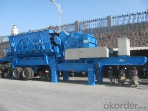 PP239 impact mobile crushing and screening plant