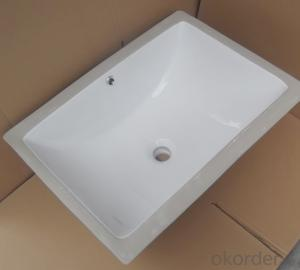 white ceramic stone under counter basin 23-inch E-1801