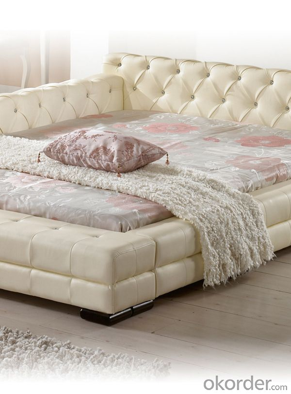 newest beauty furniture pu bed