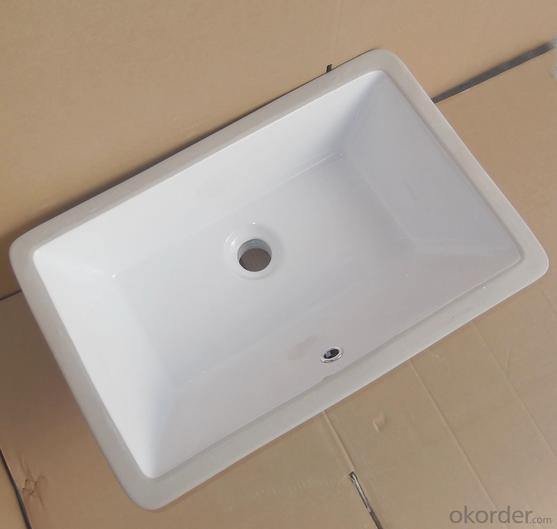 square white ceramic basin audience 21-inch