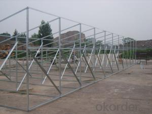 Ground screw piles solar mounting brackets