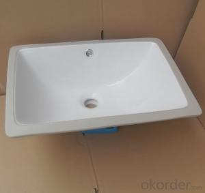 white ceramic stone under counter basin 18-inch