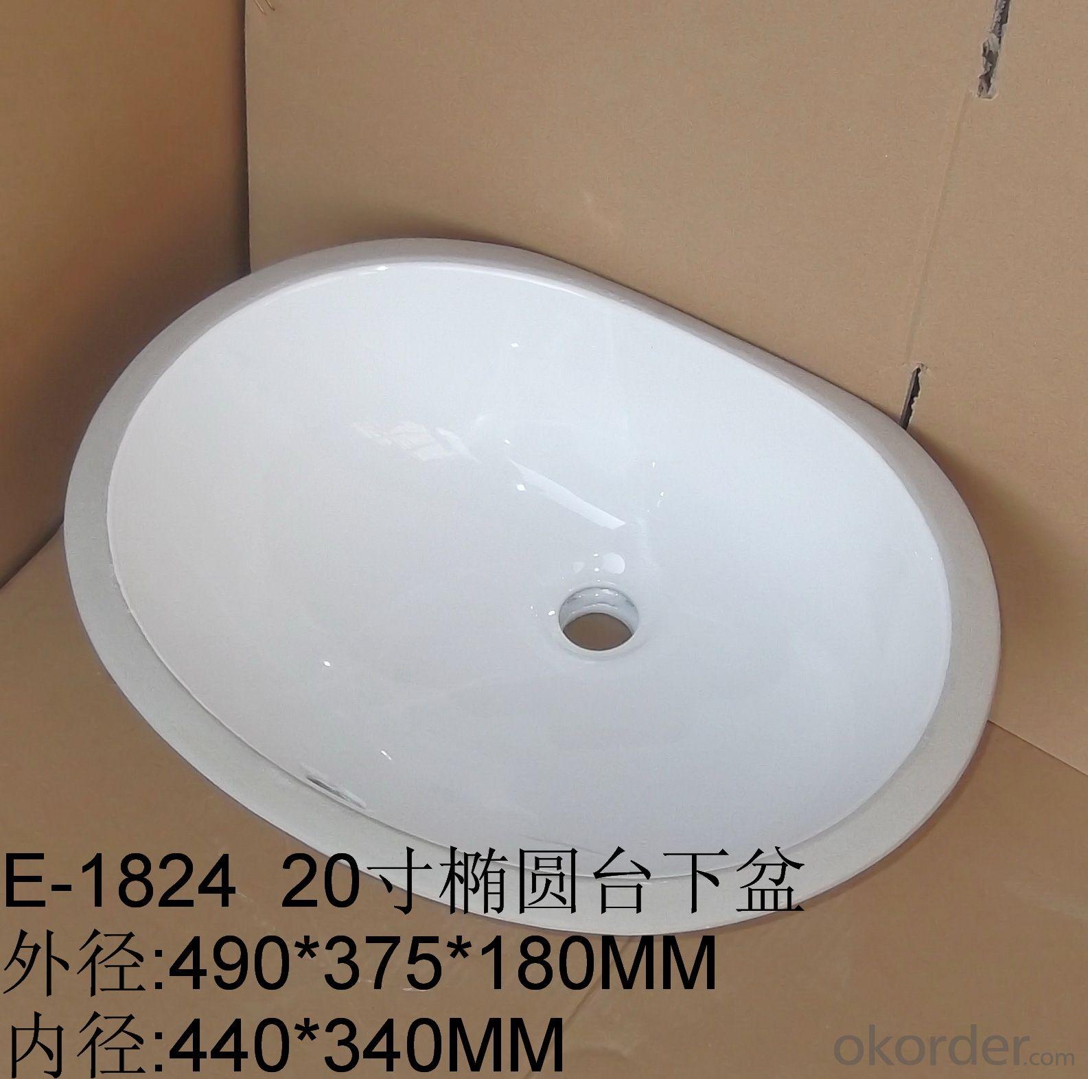 Chamfered ceramic wash basins 20 inch