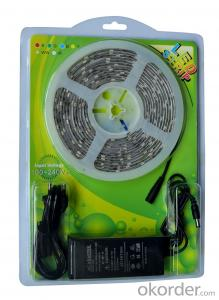 CE ROHS UL SAA Certificate Blister Package DC12V/24V 3528%5050 RGB Led strip Kit with Controller and Adapter