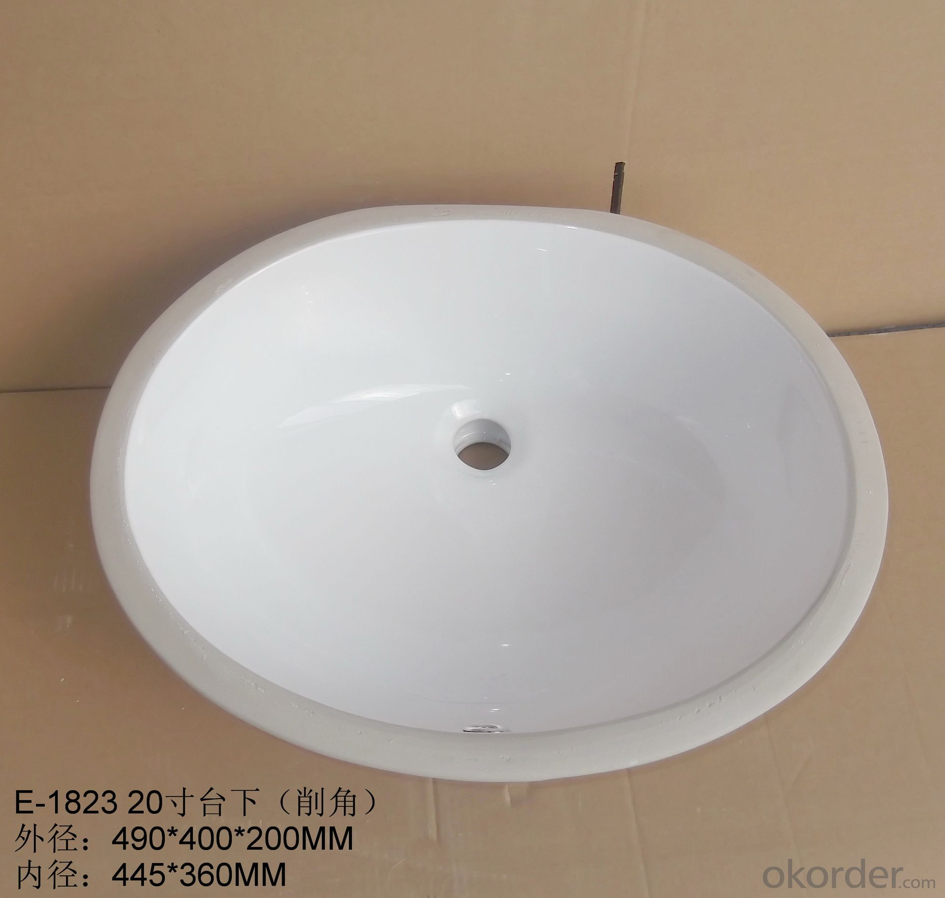 Chamfered audience 20-inch washbasins