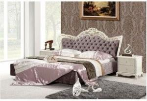 modern popular leather pu beds with crystal