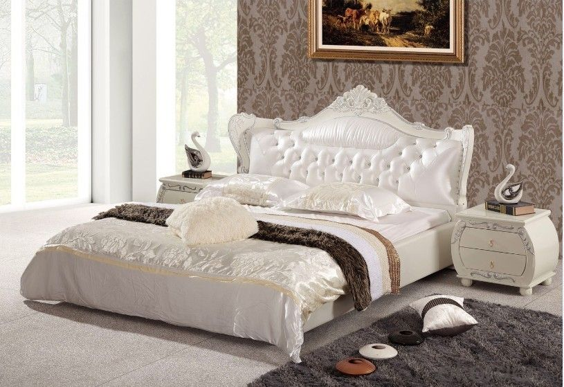 king size pu bed