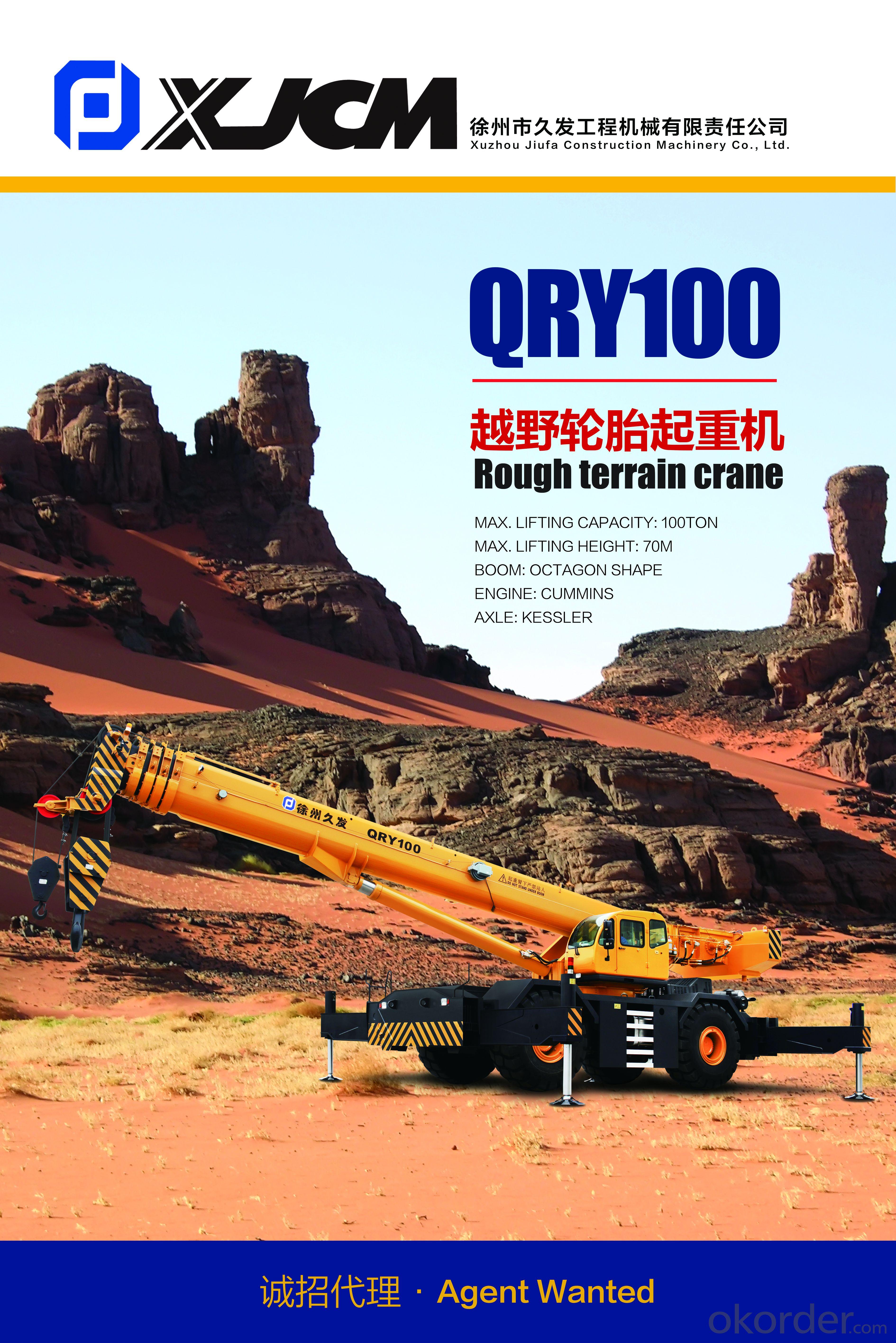 Rough terrain crane QRY100