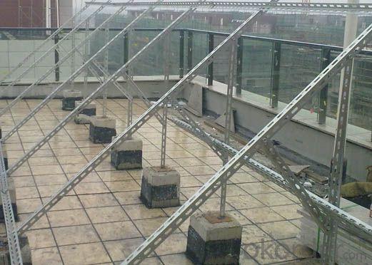 Ground screw piles solar mounting brackets