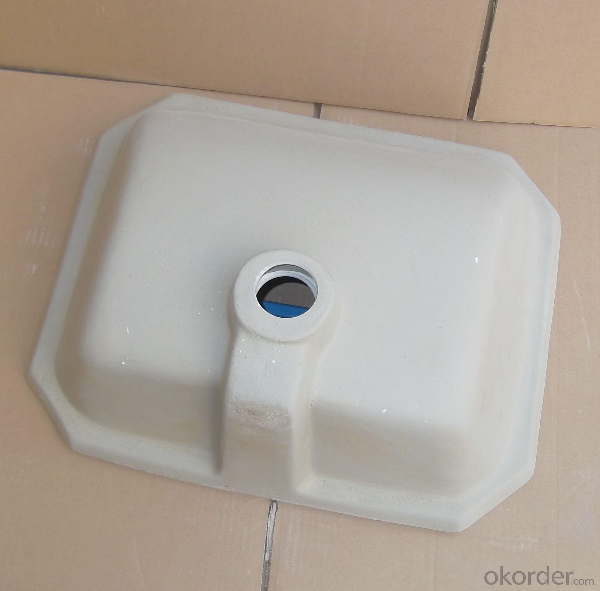 The new 18-inch white square undercounter basin