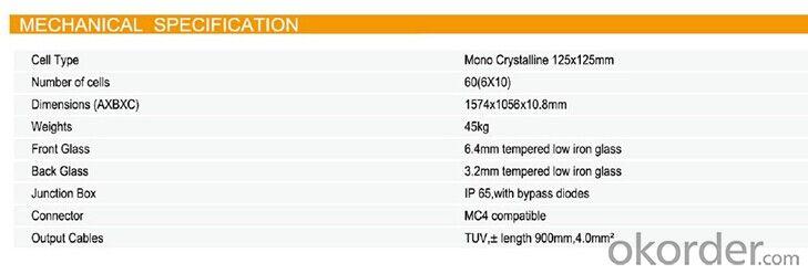 BIPV Module 60M-C 6x3
