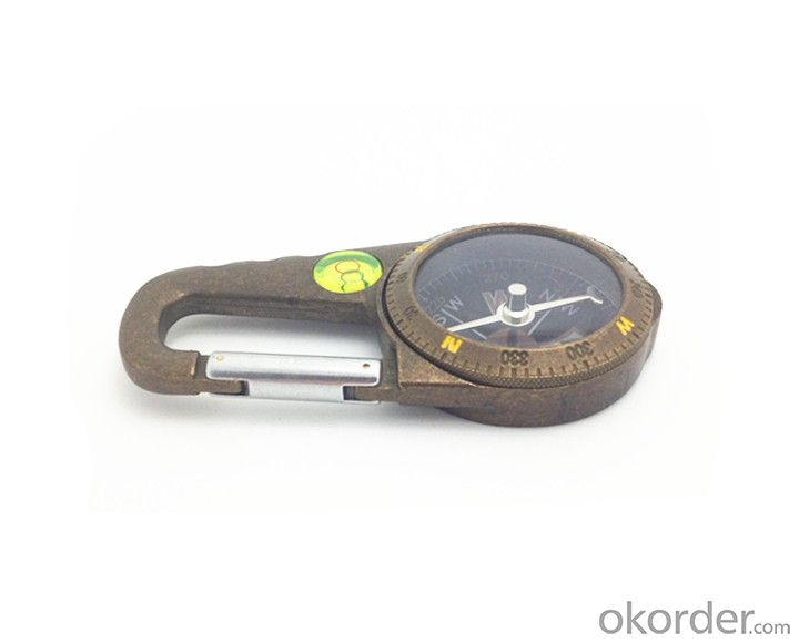 Protable Magnetic Compass with Carabiner T4386-1